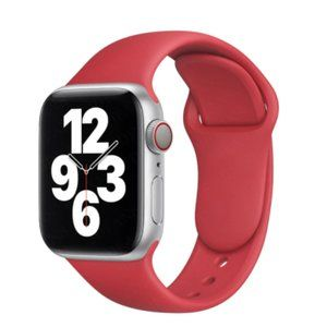 NEW BAND RED Sport Silicone For Apple Watch